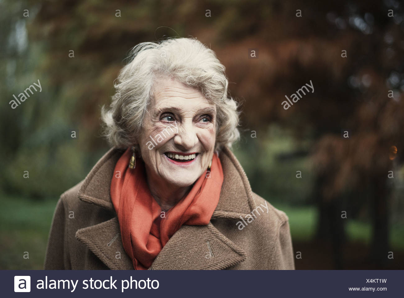 Portrait of senior woman - Stock Image