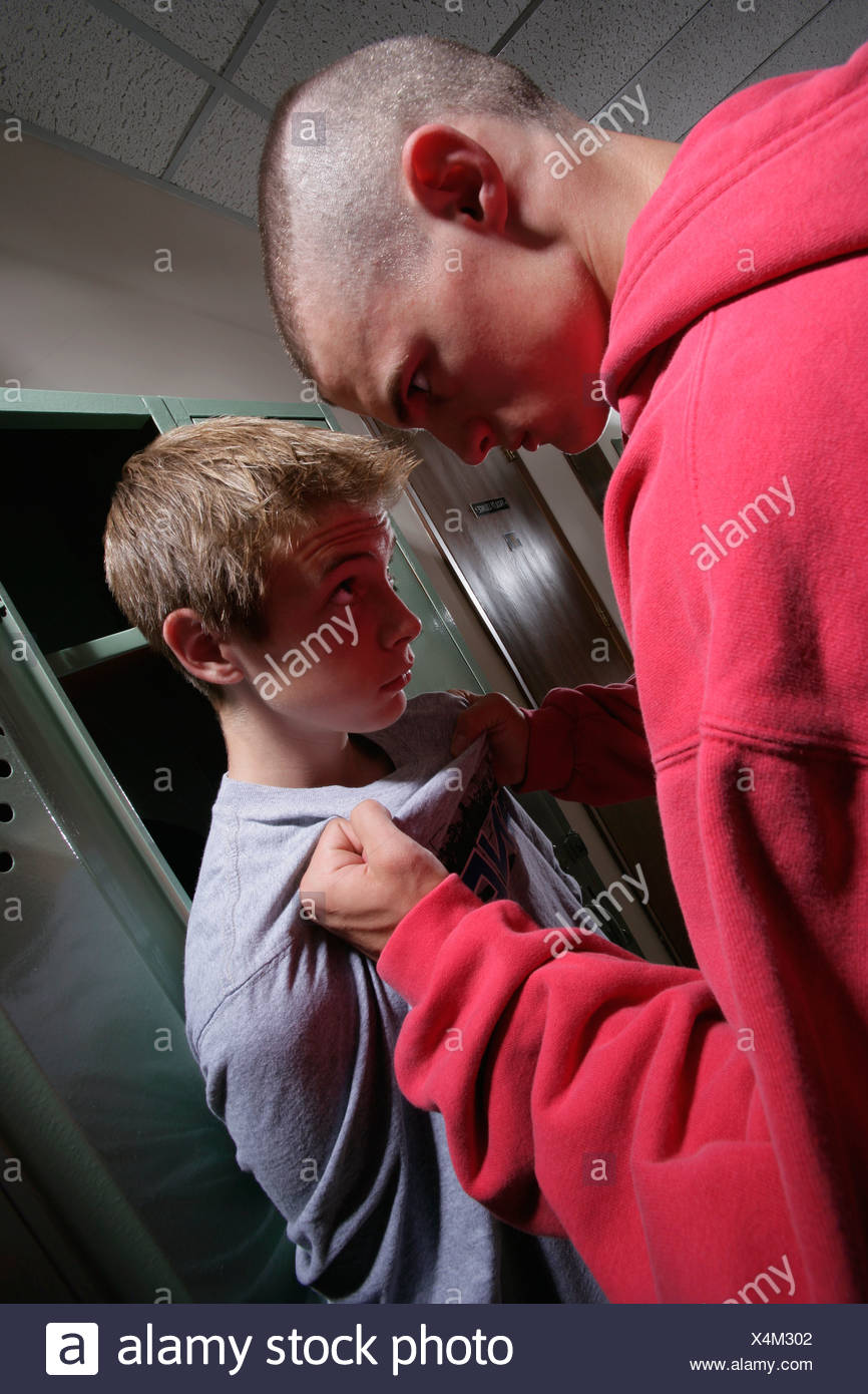 Boy being bullied Stock Photo