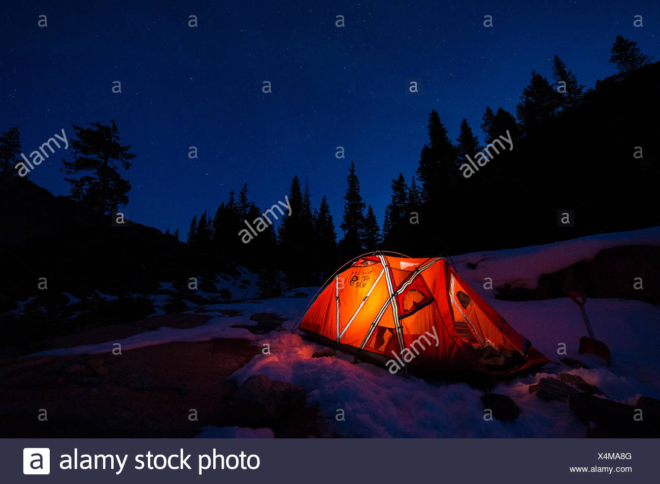 Camping on Donner Summit - Stock Image