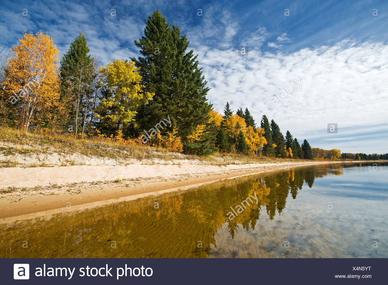 Namekus Lake, Prince Albert National Park, Saskatchewan, Canada - Stock Image