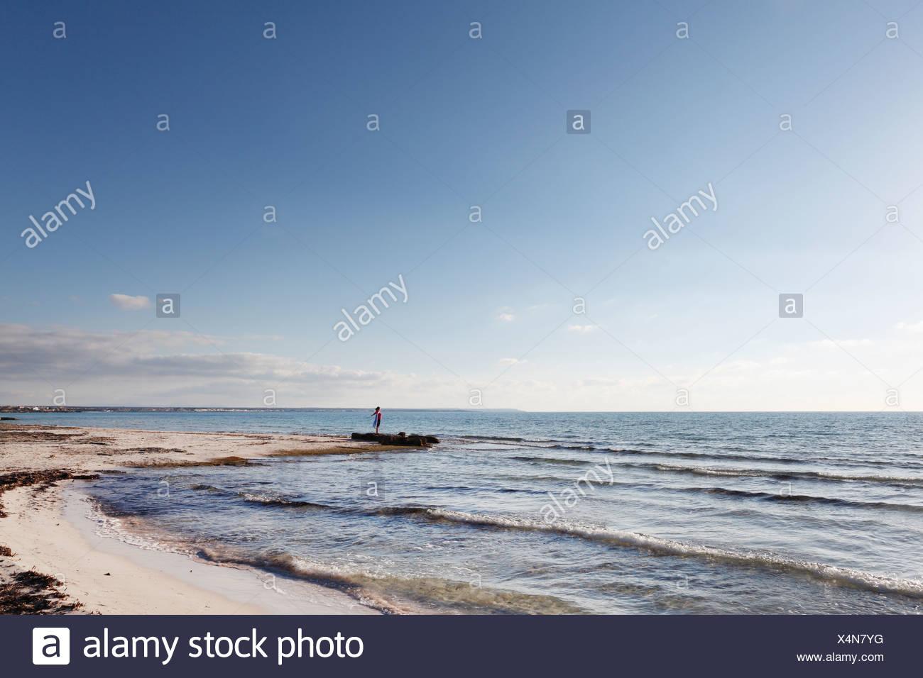 Es Trenc Beach, Colonia Sant Jordi, Majorca, Balearic Islands, Spain, Europe - Stock Image