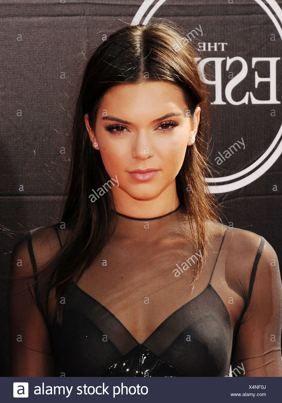 TV personality Kendall Jenner arrives at the The 2015 ESPYS at Microsoft Theater on July 15, 2015 in Los Angeles, California., Additional-Rights-Clearances-NA - Stock Image