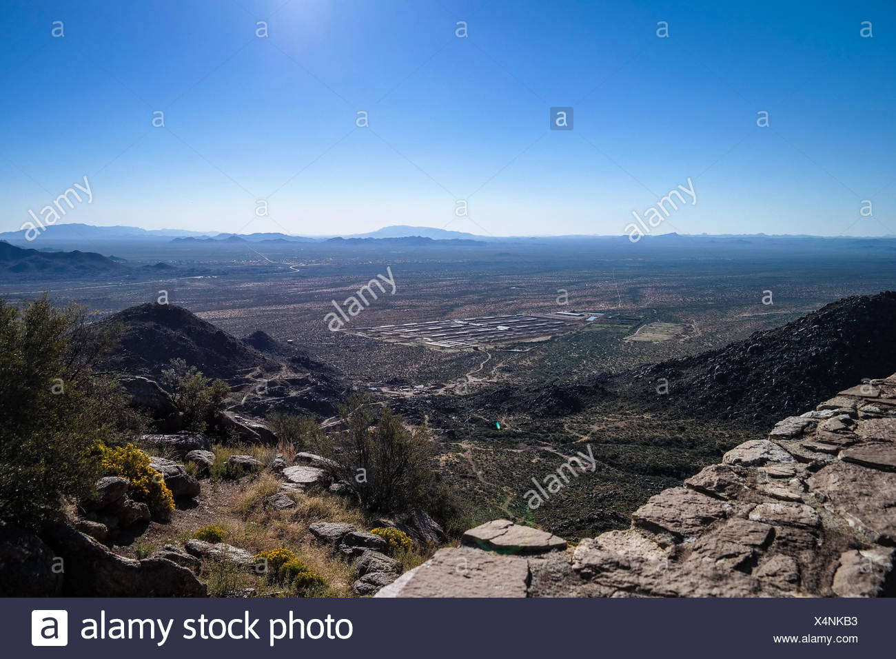 Human Settlement In Valley - Stock Image