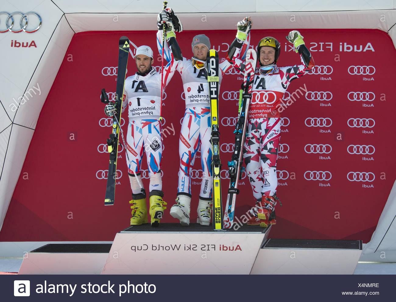 Winners Hinterstoder, Alexis Pinterault - Stock Image