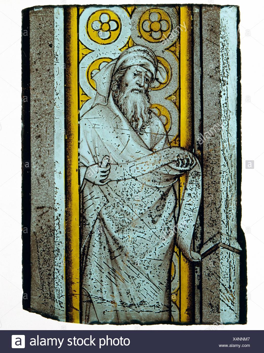 Prophet from a Throne of Solomon. Date: ca. 1390-1410; Geography: Made in Bourges or Burgundy; Culture: French or South Netherlandish; Medium: Stock Photo