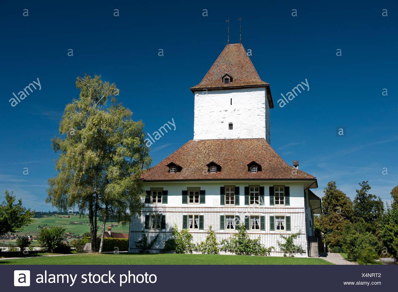 aristocracy, canton Bern, Mittelland, castle, Schlosswil, Switzerland - Stock Image