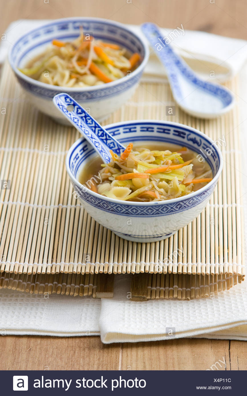 Asiatische Nudelsuppe - Asian Noodle Soup - Stock Image