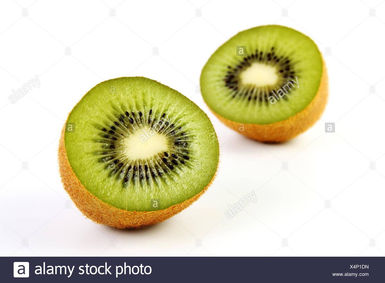 kiwis - kiwi with sliced u200bu200bkiwi half Stock Photo