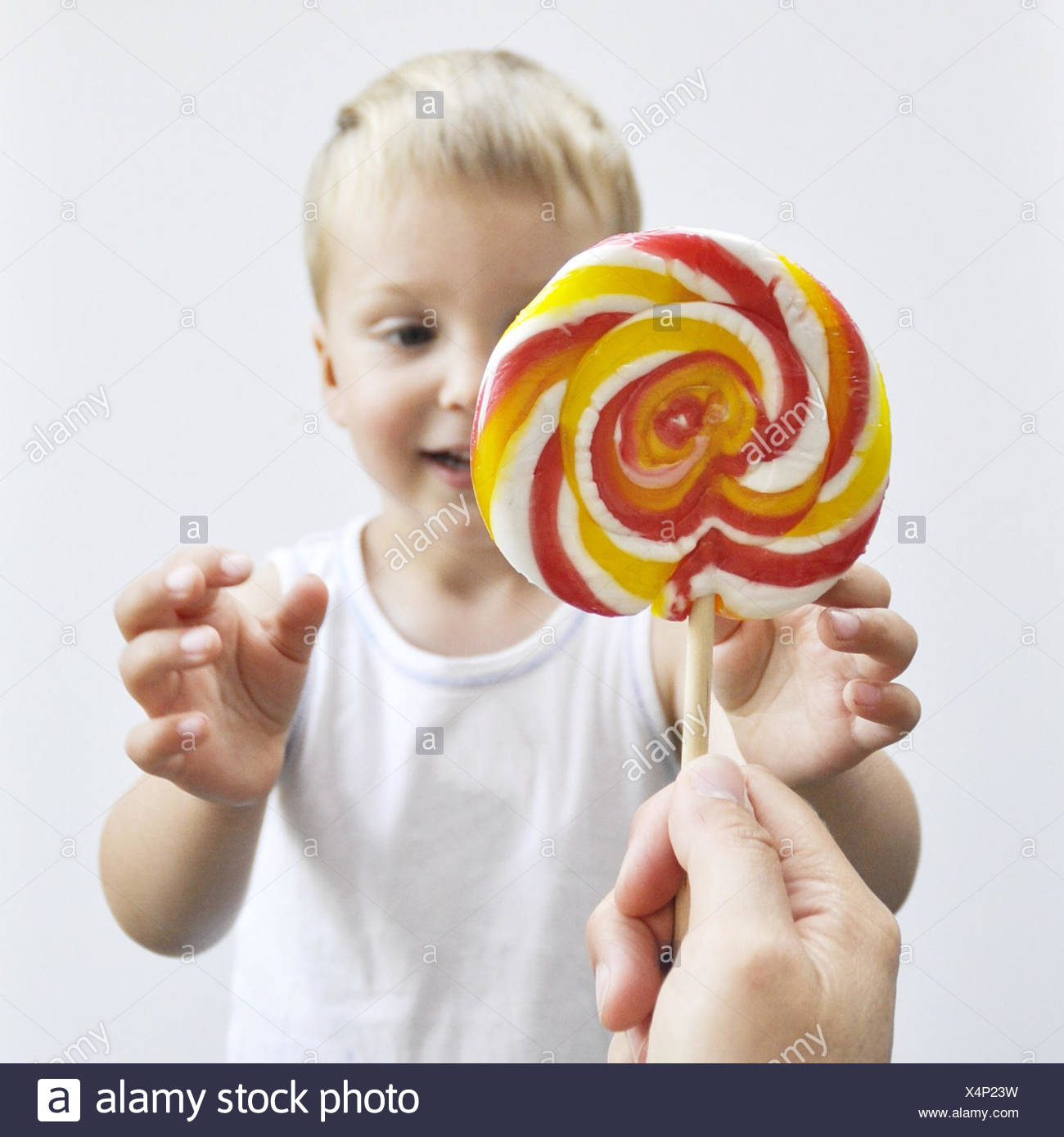 What a large lollipop this man had
