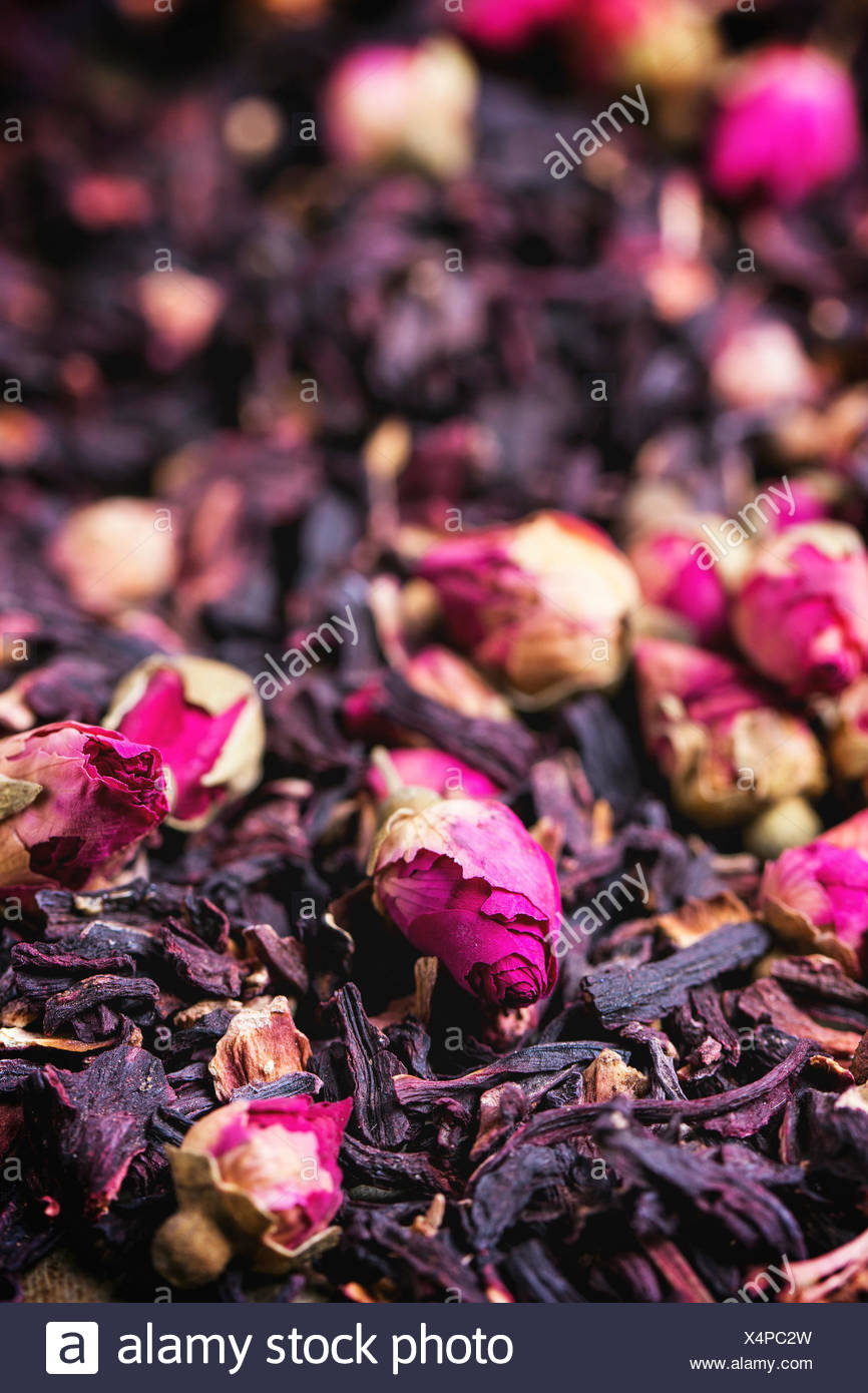 Heap of tea roses and dried hibiscus flower stock photo 278316945 heap of tea roses and dried hibiscus flower izmirmasajfo Images
