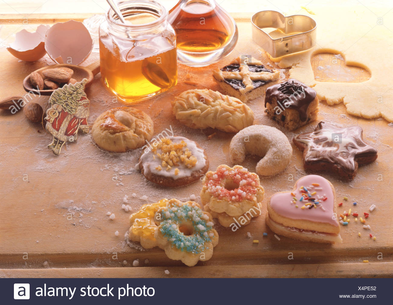 Tableau Several Kinds Of German Christmas Cookies Stock Photo