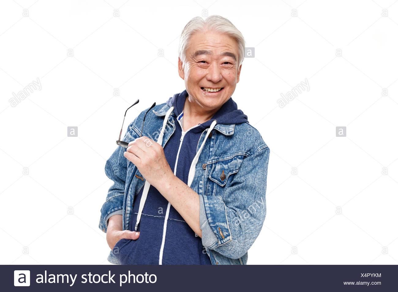Fashionable older men - Stock Image