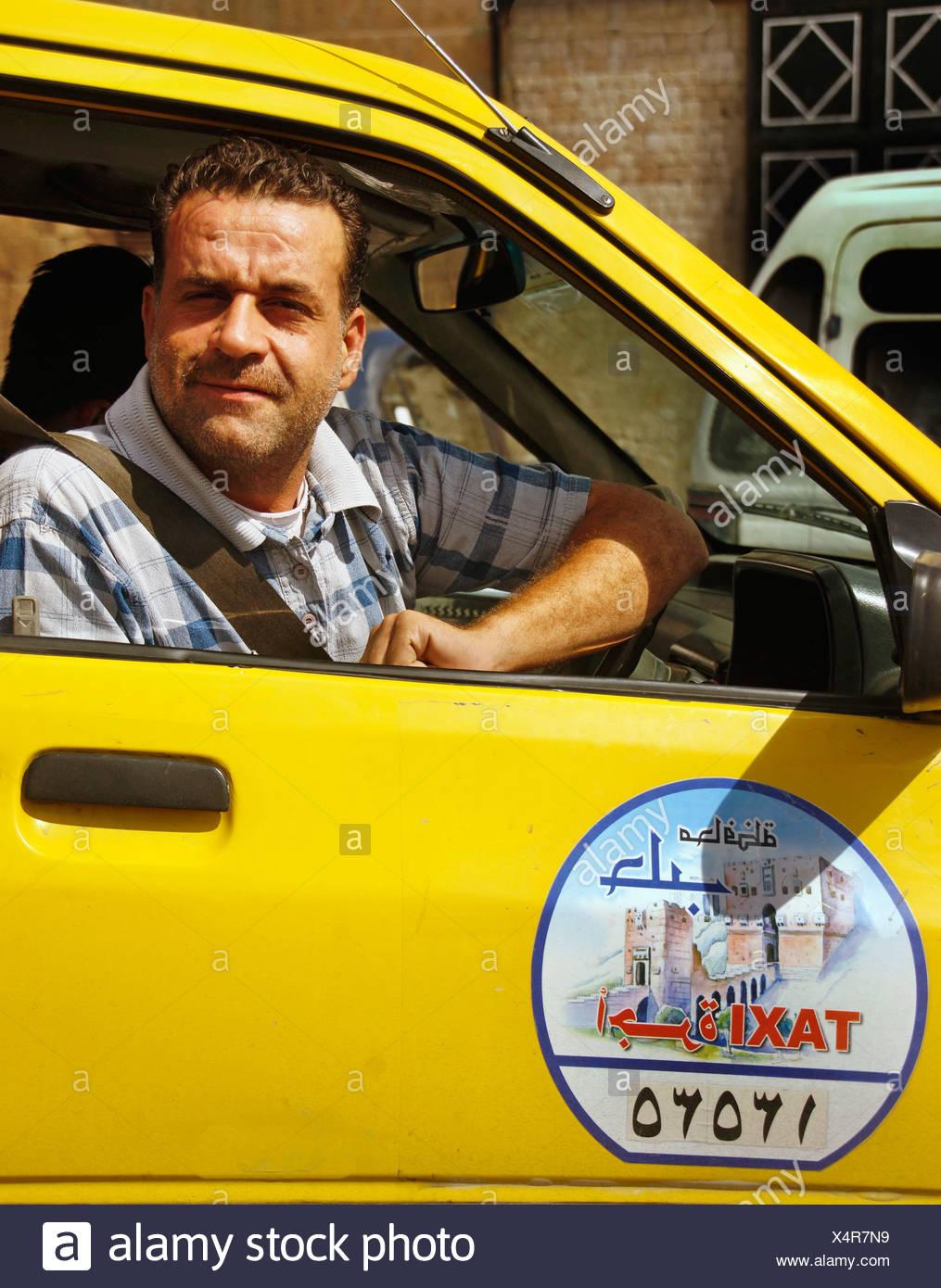 Taxi, Aleppo, Syria - Stock Image