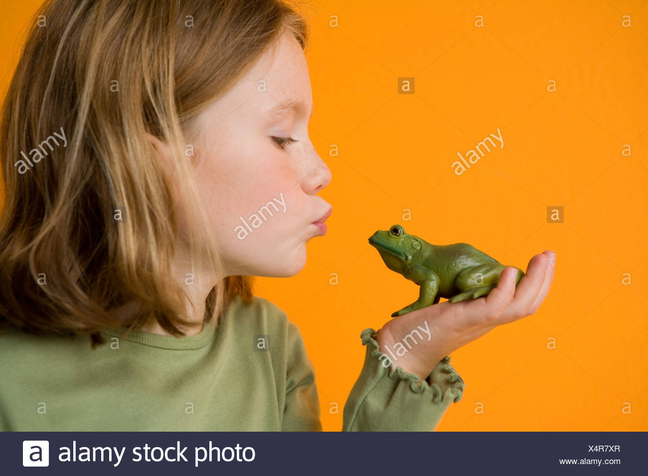 Girl Girl Kissing Frog Stock Photos Girl Frogsing Frog Stock Images - Alamy-3862