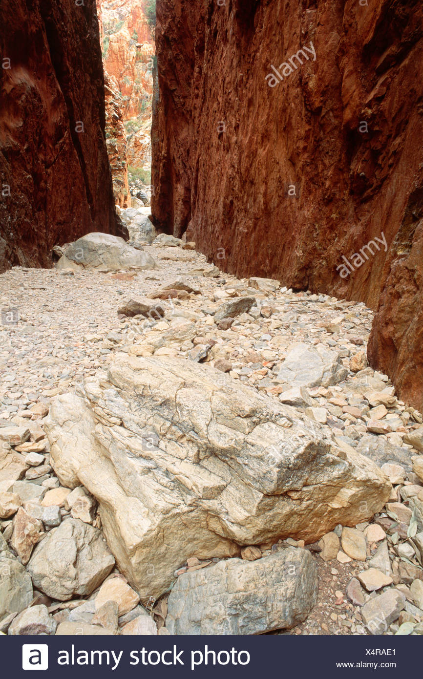 Standley Chasm in the West MacDonnell National Park, Northern Territory, Australia - Stock Image
