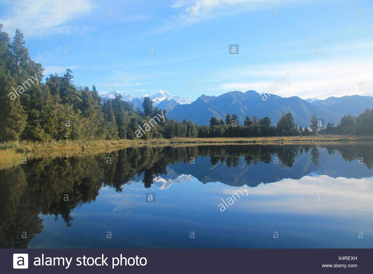 Lake Matheson, New Zealand - Stock Image