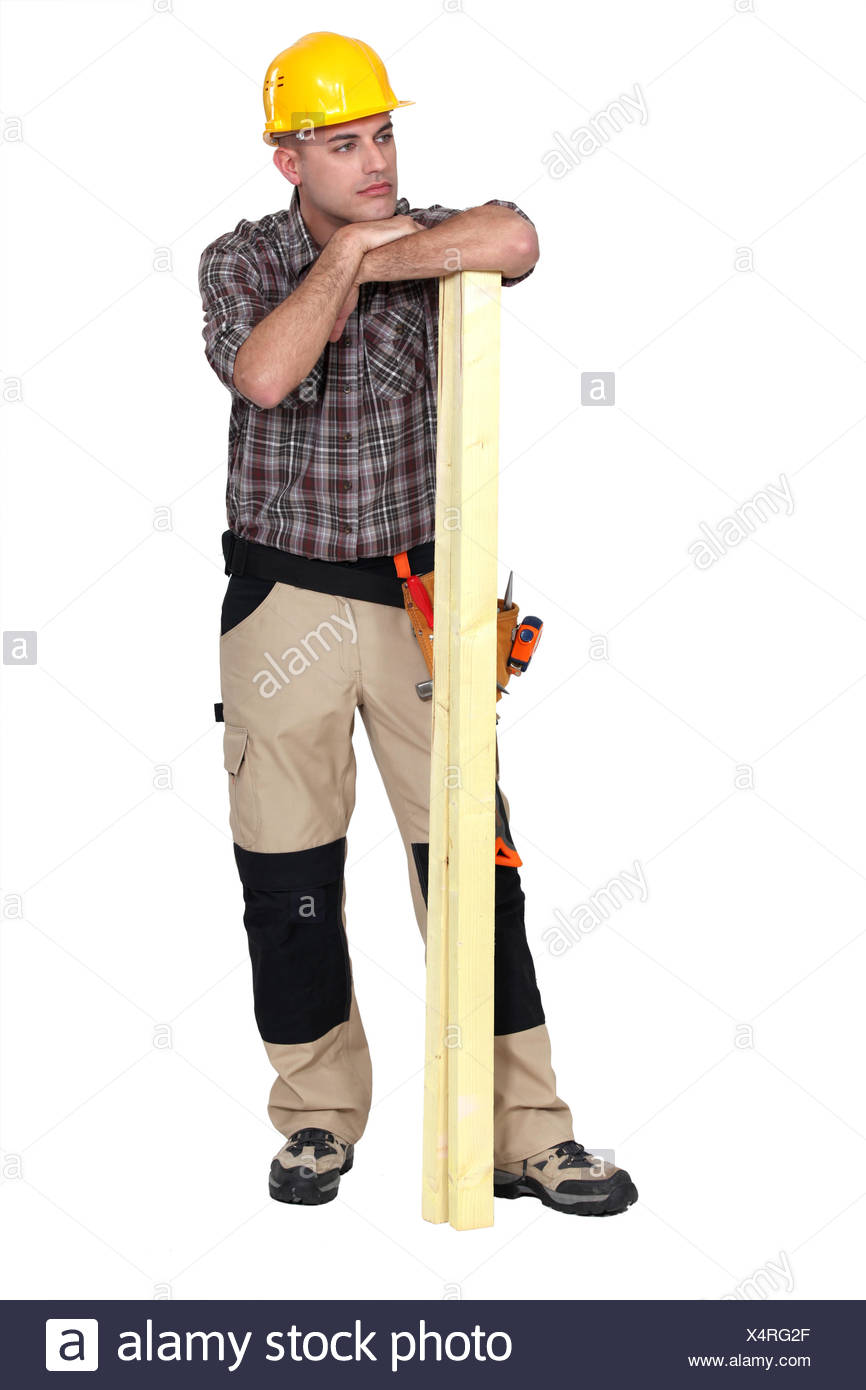 woodworker posing - Stock Image