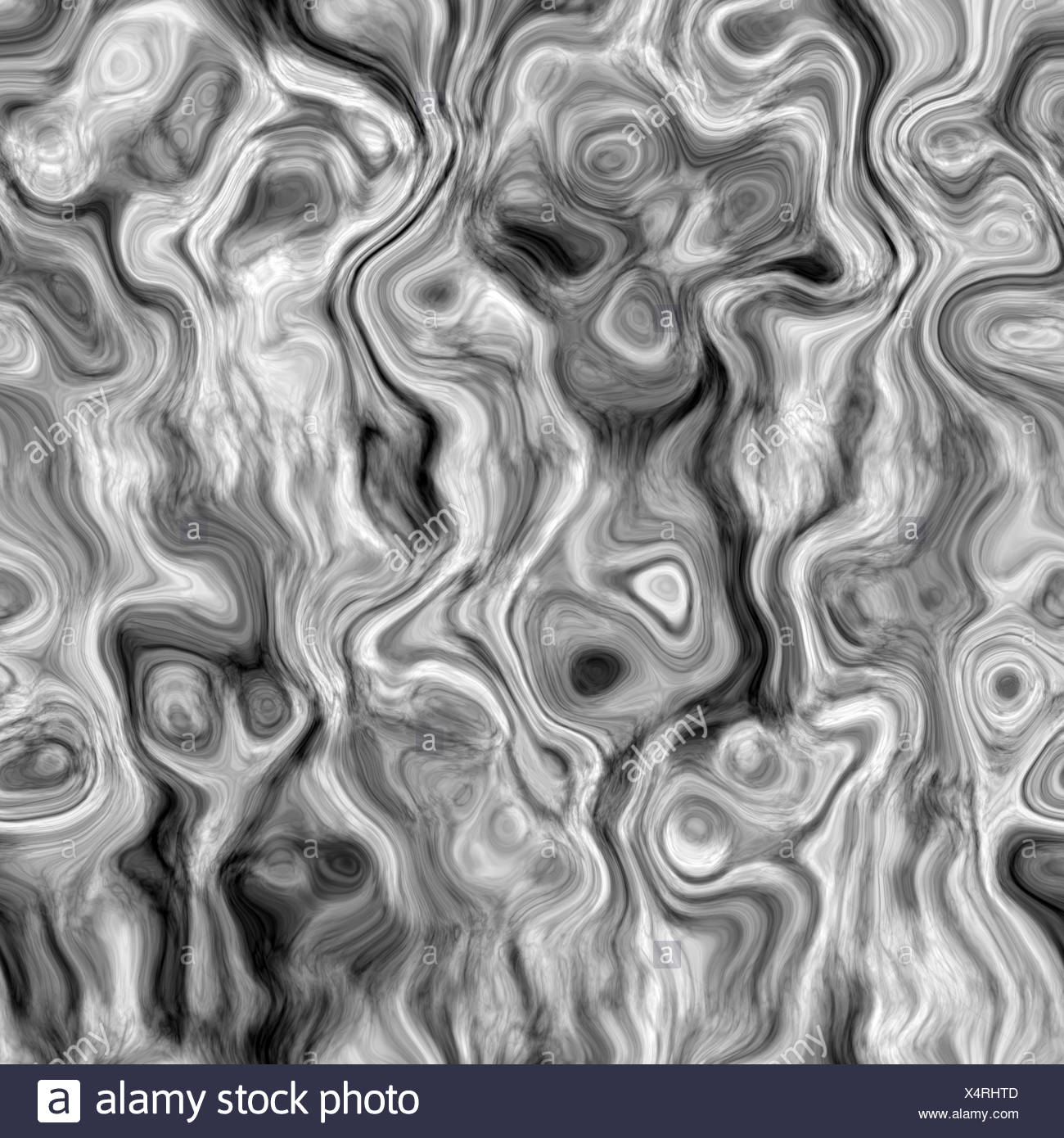 seamless texture of curling grey and white lines - Stock Image