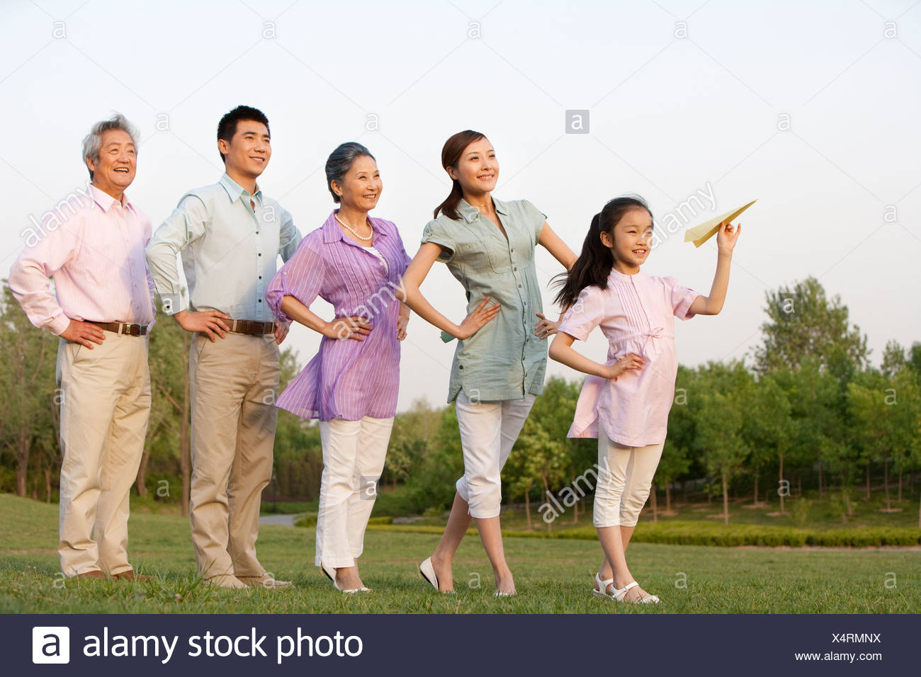 Family at the Park Together - Stock Image