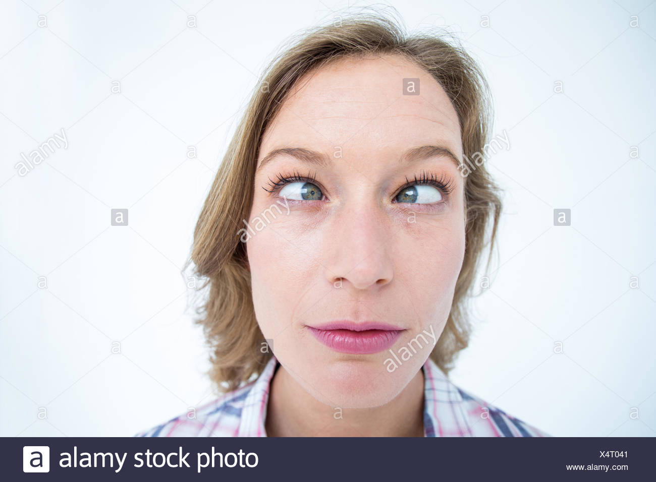 Funny hipster grimacing - Stock Image