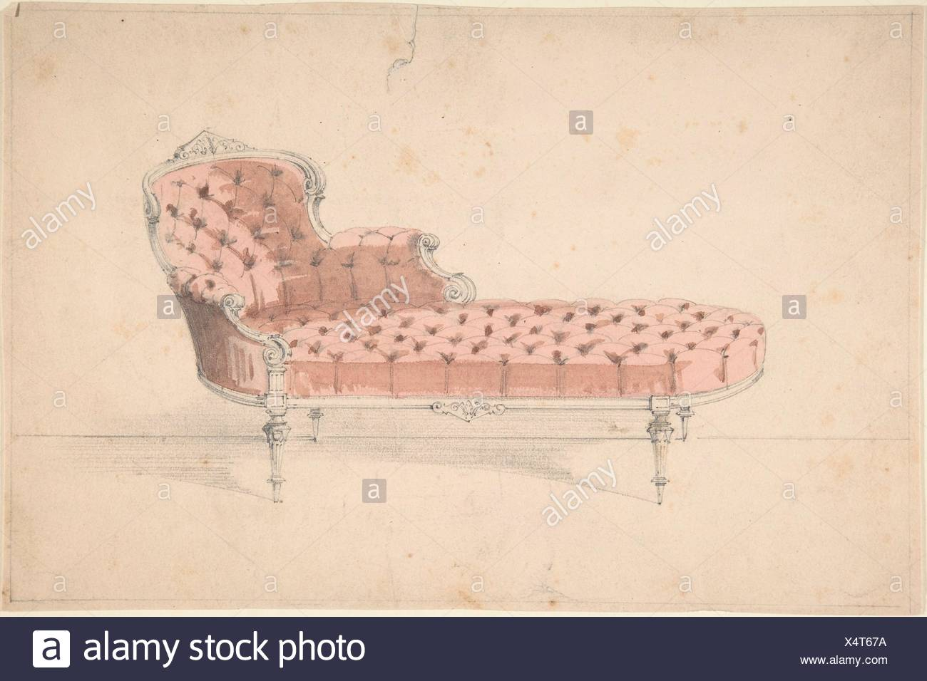 b victorian french chaise provincial chair classic lounge mahogany