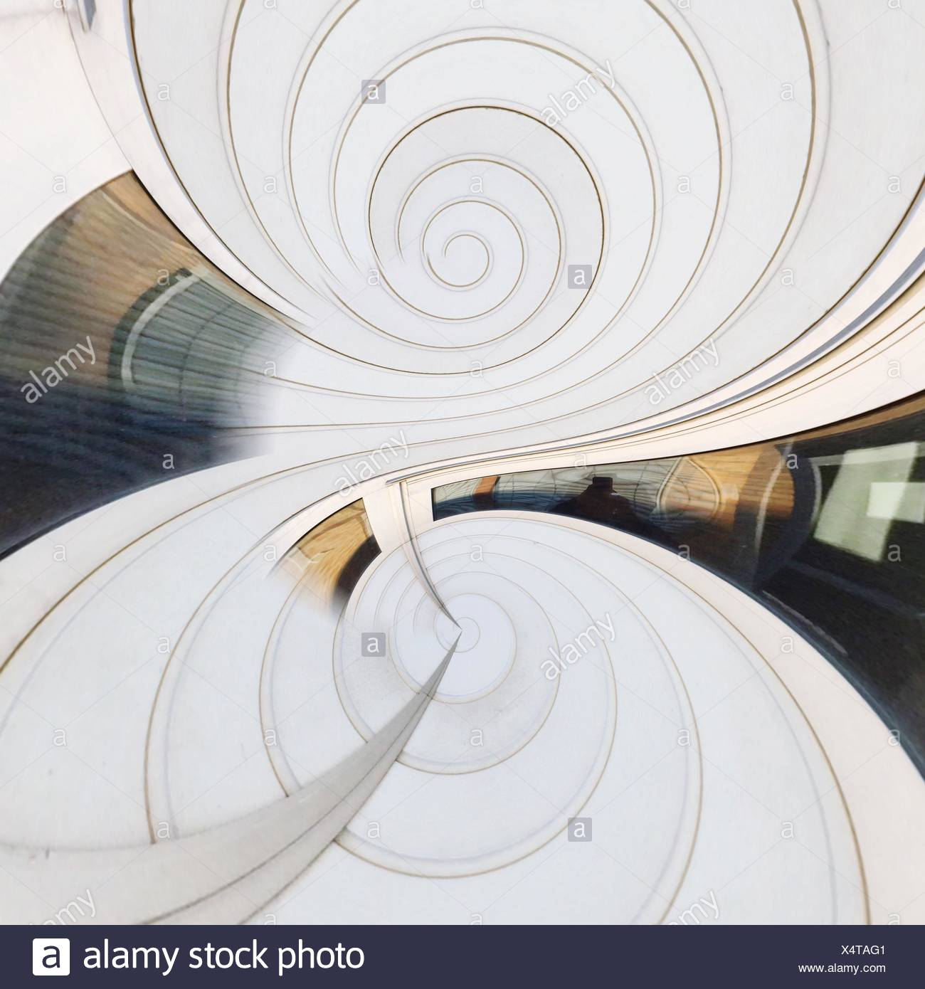 Digital Composite Image Of White Kaleidoscopic Pattern - Stock Image
