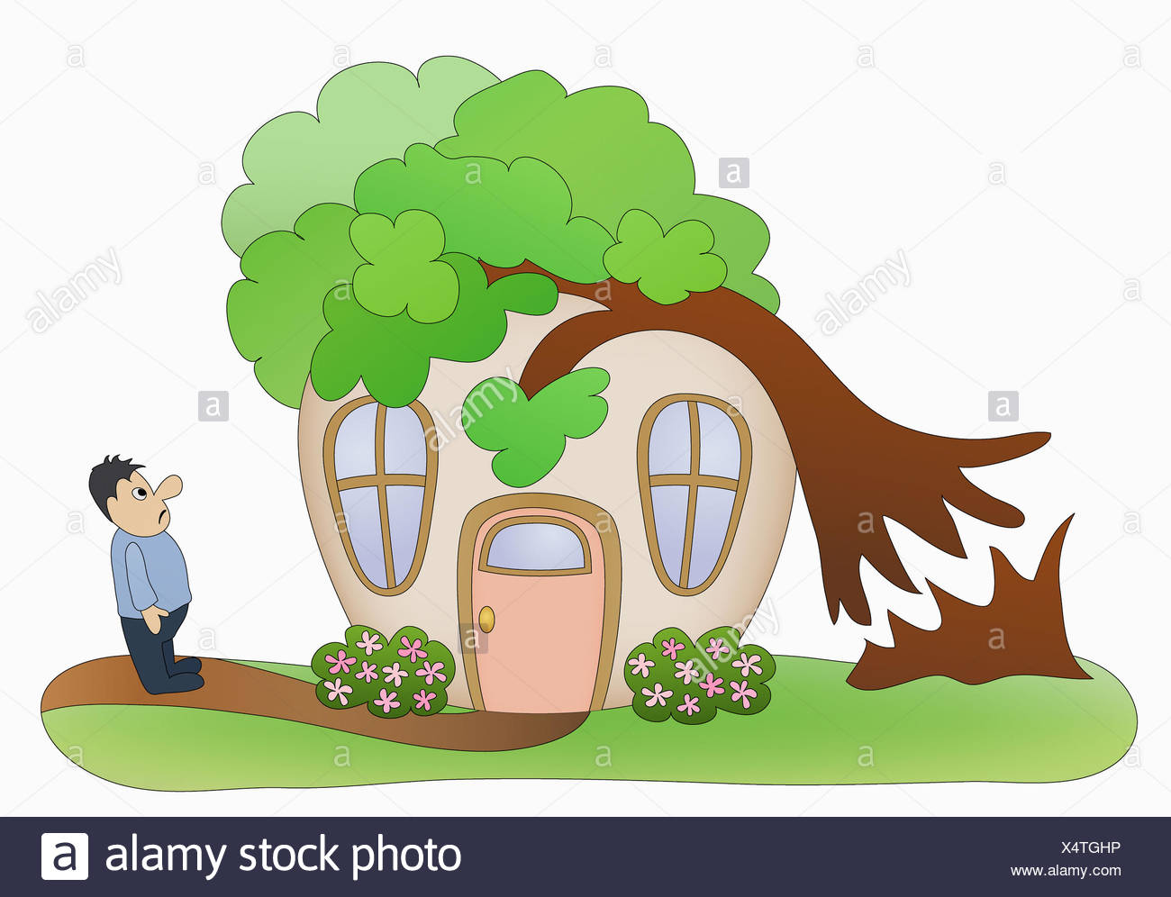 Household Disaster Tree Falling On House Stock Photo Alamy 50,000+ vectors, stock photos & psd files. https www alamy com household disaster tree falling on house image278364402 html