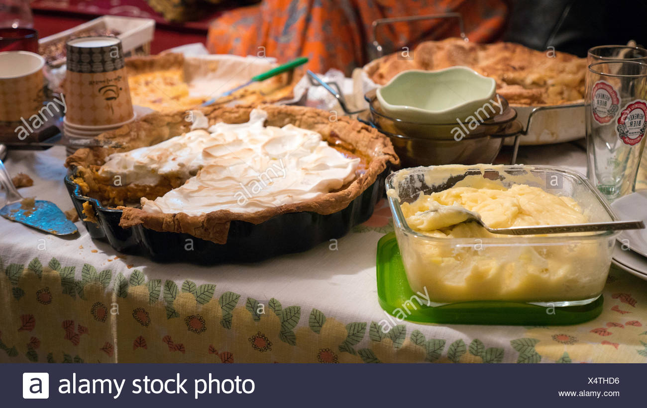 Close-Up Of Table With Pastry And Desserts, Grainy Image - Stock Image