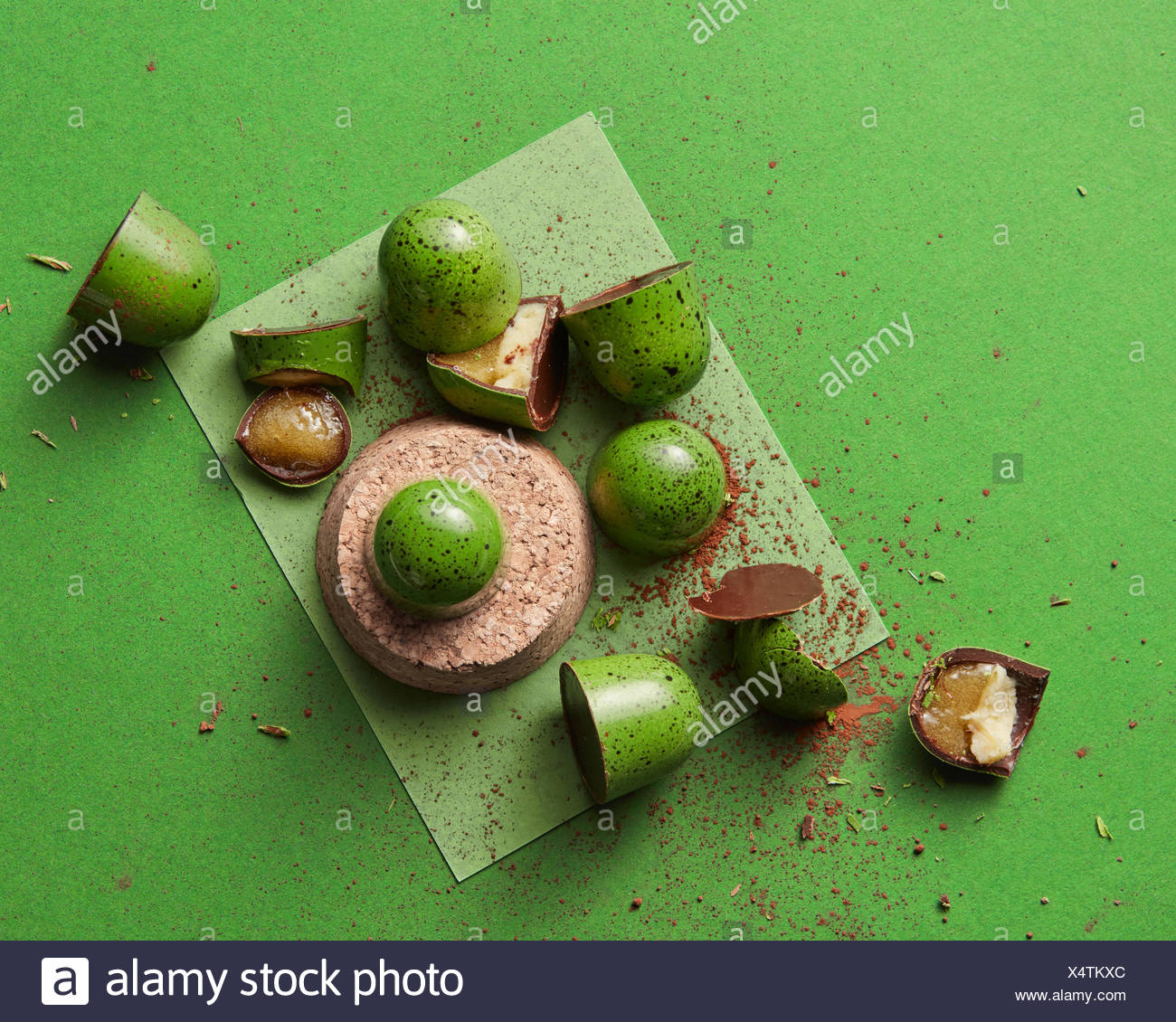 broken candy with jelly - Stock Image