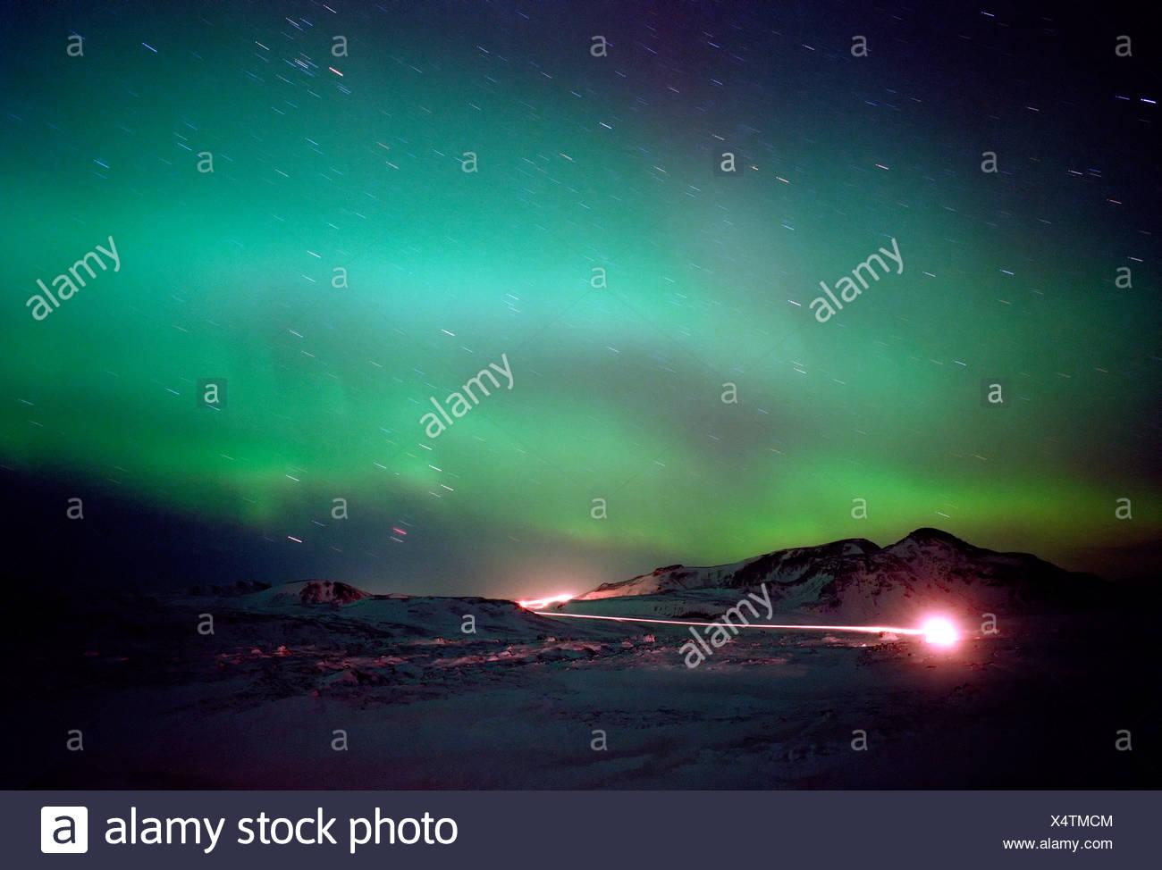 Aurora Borealis, Iceland - Stock Image