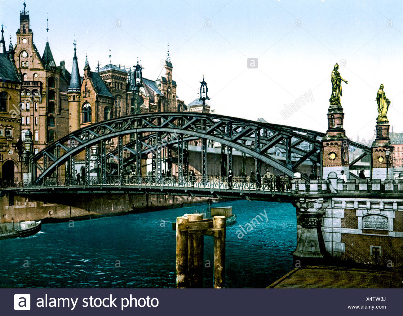 Brooksbrücke Hamburg - Stock Image