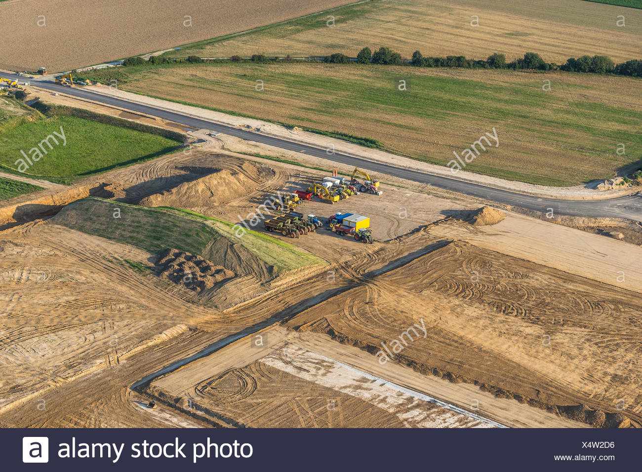 Germany, Hildesheim, arial view of agrarian area - Stock Image