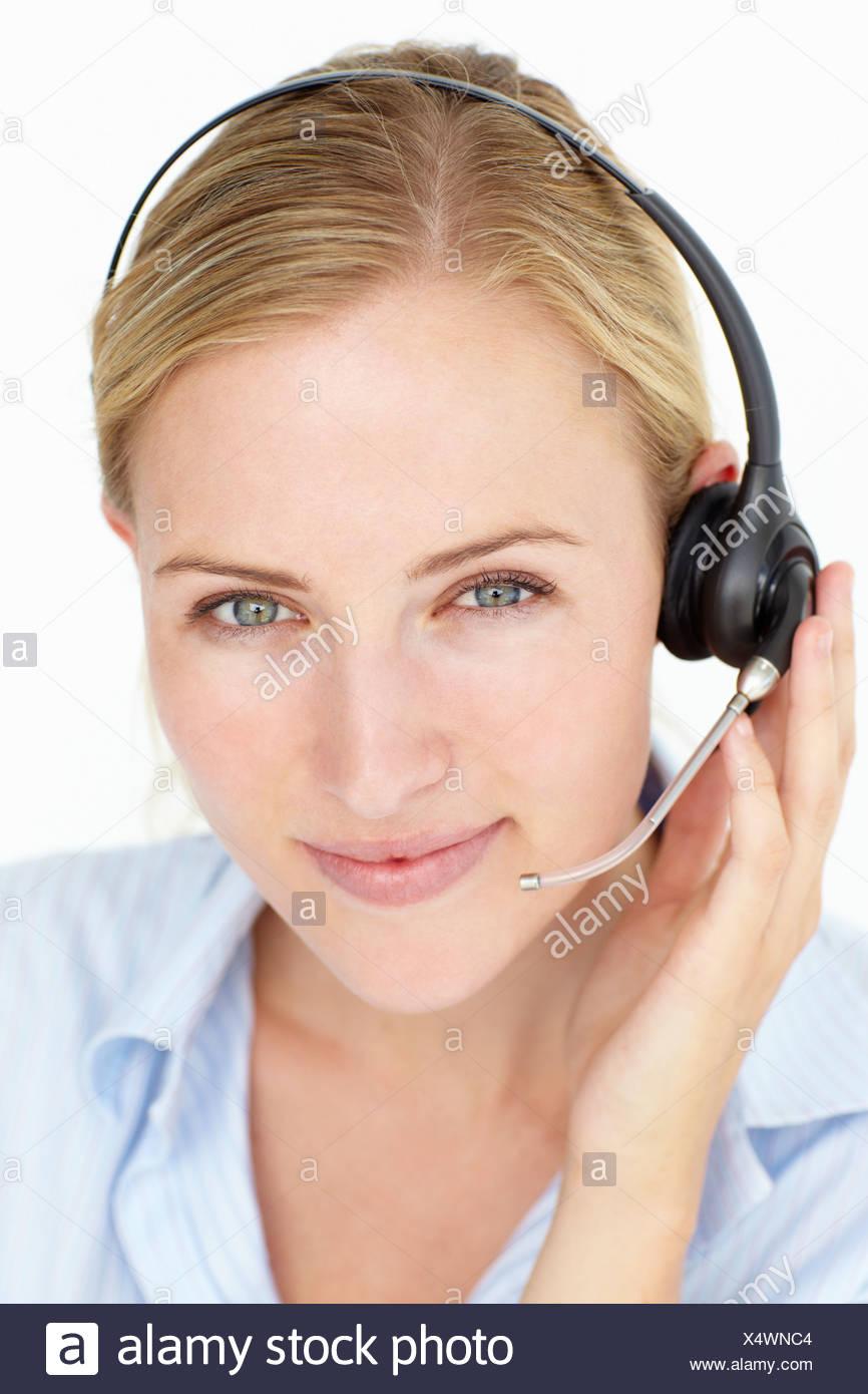 Call center operator - Stock Image