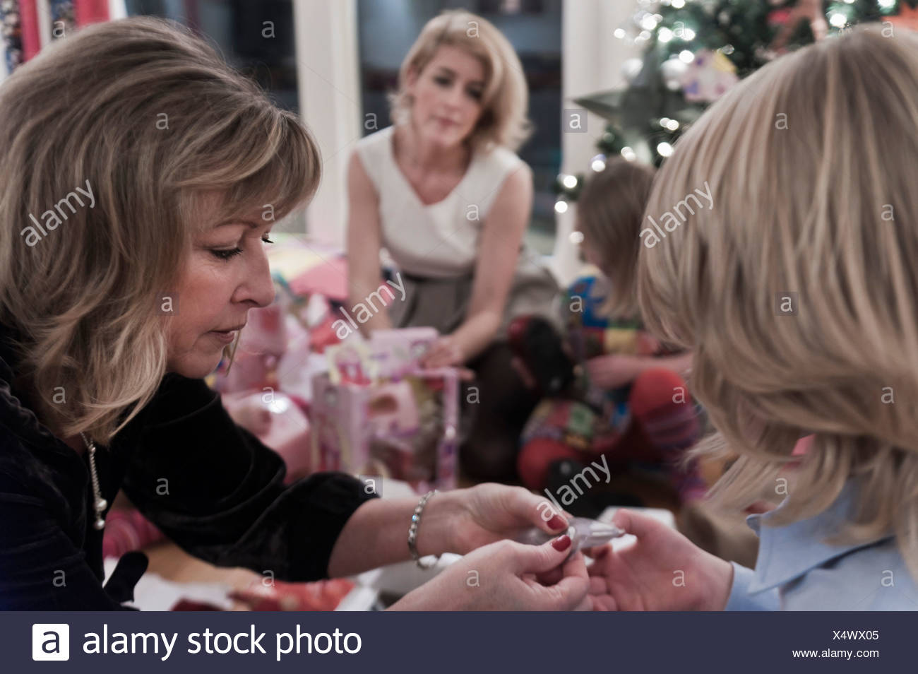 Christmas Eve celebration - Stock Image