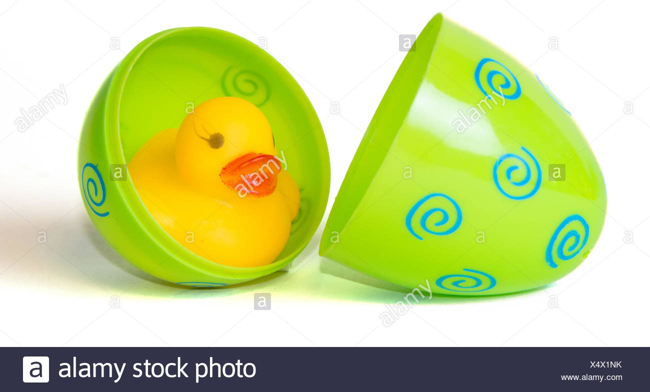easter, funny, maddening, pert, coquettish, cute, rubber duck, holiday, candy - Stock Image