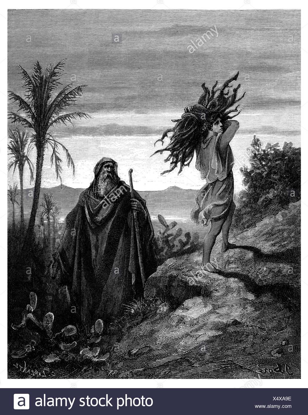 Sacrifice of Isaac - Stock Image