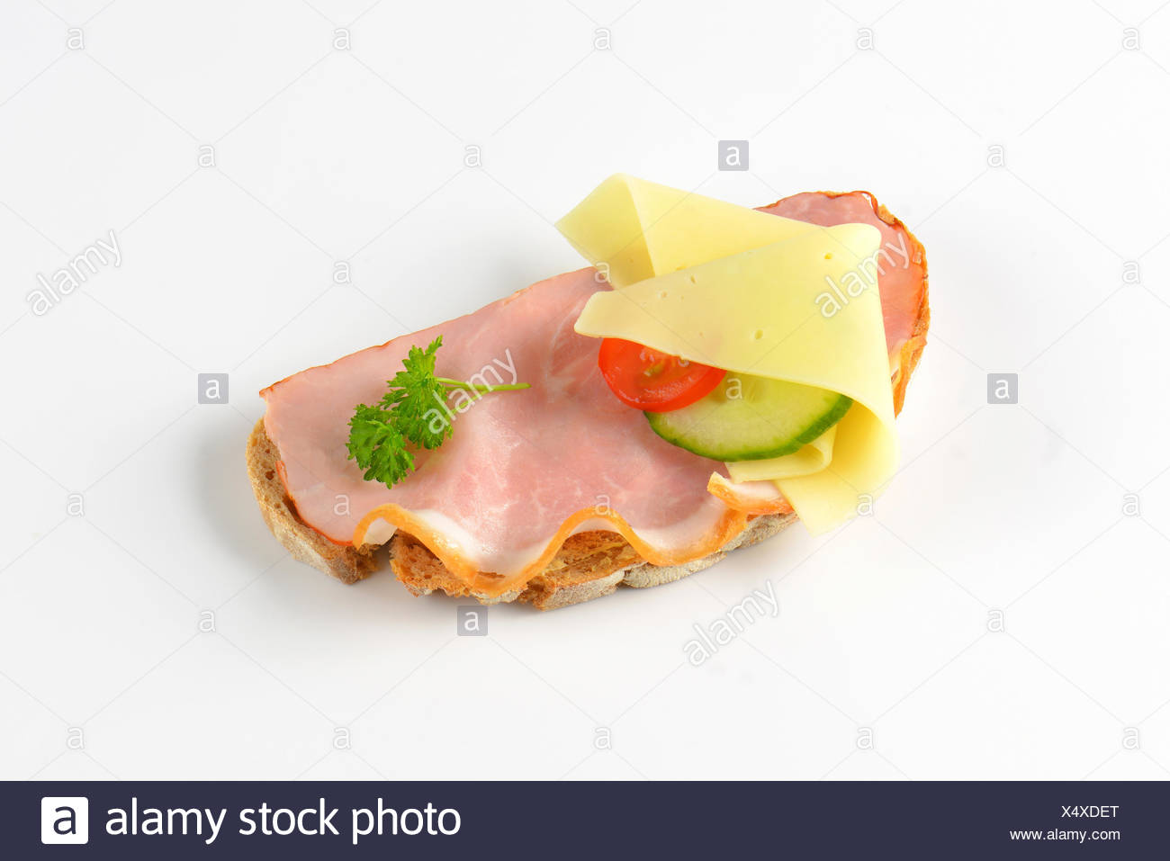 open faced sandwich - Stock Image