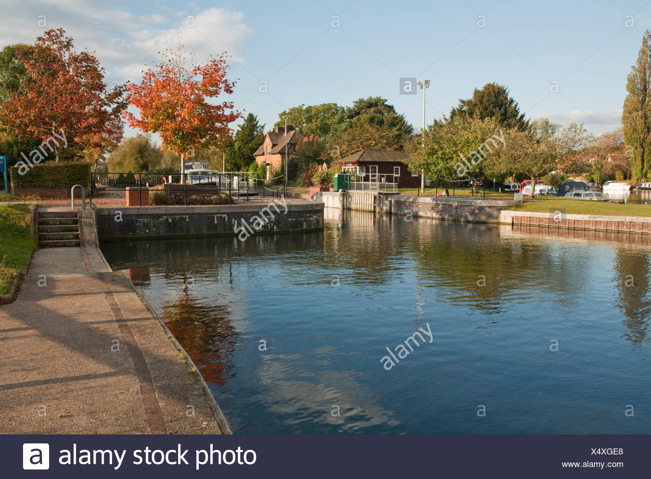 Hambleden Lock near Henley, River Thames, Oxfordshire, Uk - Stock Image