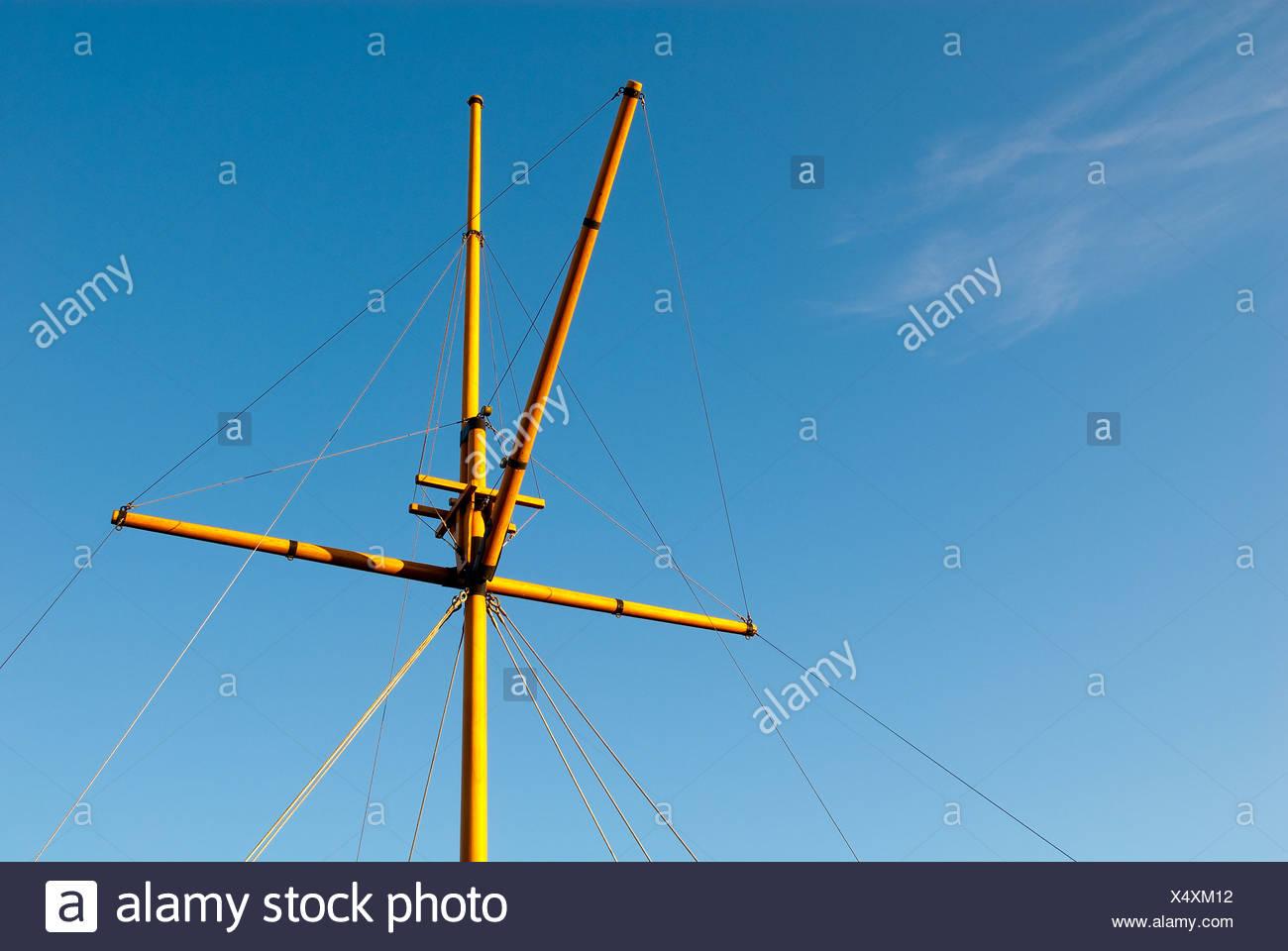 empty flagpole - Stock Image