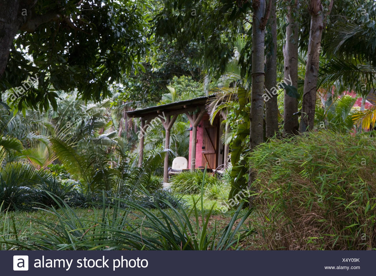 Lakaz Chamarel Guesthouse, Chamarel, Bel Ombre, Black River District, Mauritius - Stock Image