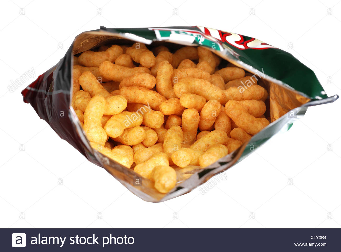 Peanut flip, envelope, openly, savory snacks, breadsticks, Knabberzeug, bag, peanut flip, flip, peanut, nutrition, unhealthily, fattener, bold, calories, rich in calorie, nibbles, salty, many, several, to pure griffins, - Stock Image