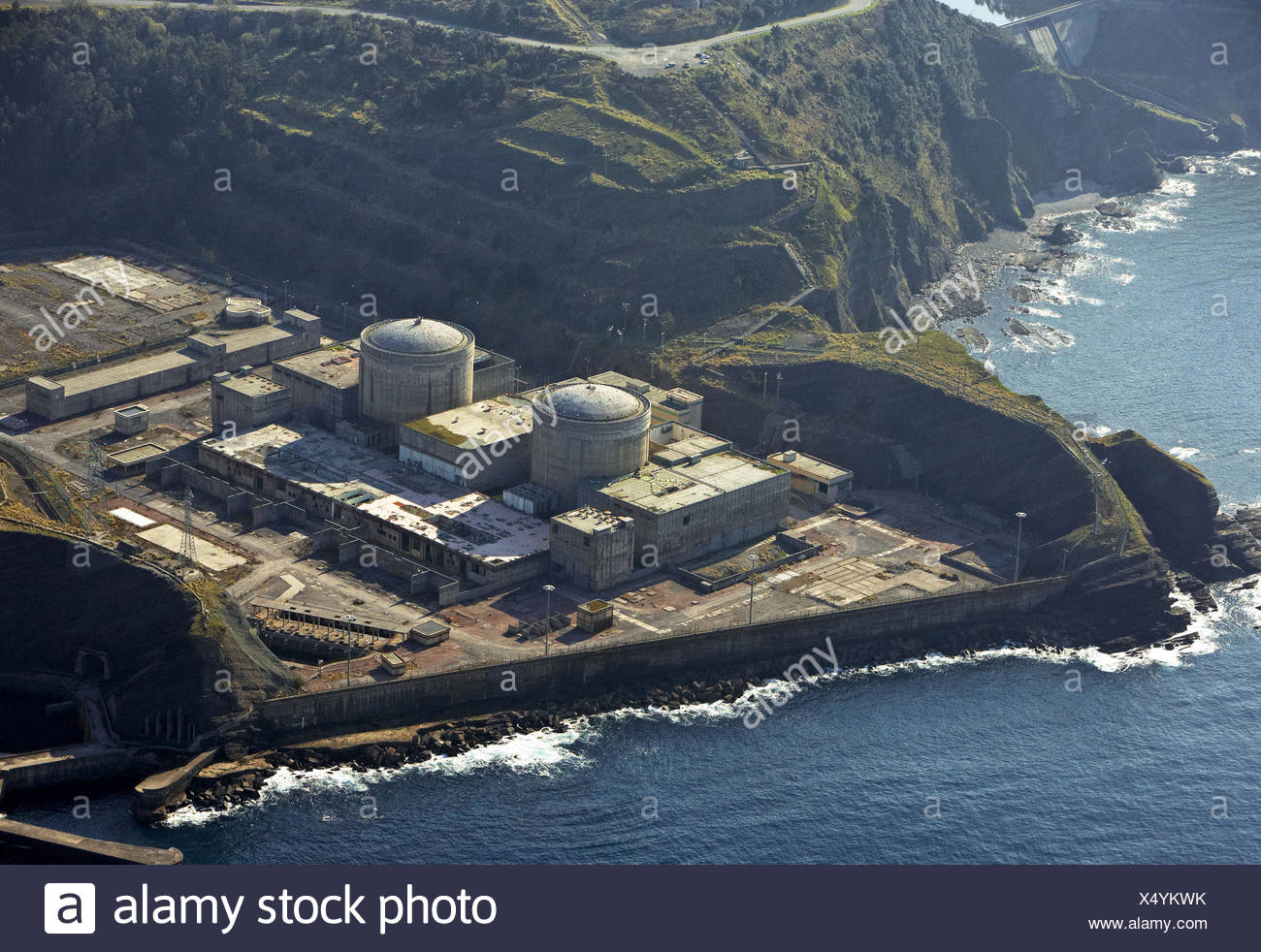 Unfnished nuclear Power Plant, Lemoiz, Biscay, Basque country, Spain Stock Photo