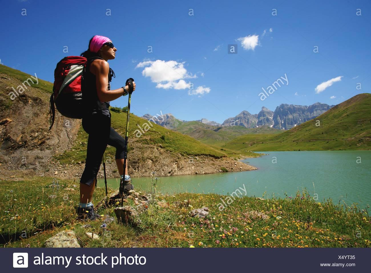 Enbalse de Ezcarra  Valle de Tena Pirineos Huesca Cordillera pirenaica España Stock Photo