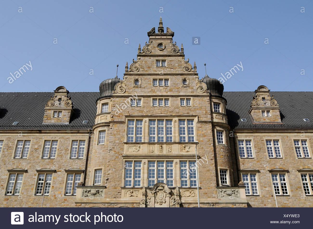 District Court, Neo-Renaissance, Oberhausen, Ruhrgebiet area, North Rhine-Westphalia, Germany, Europe - Stock Image