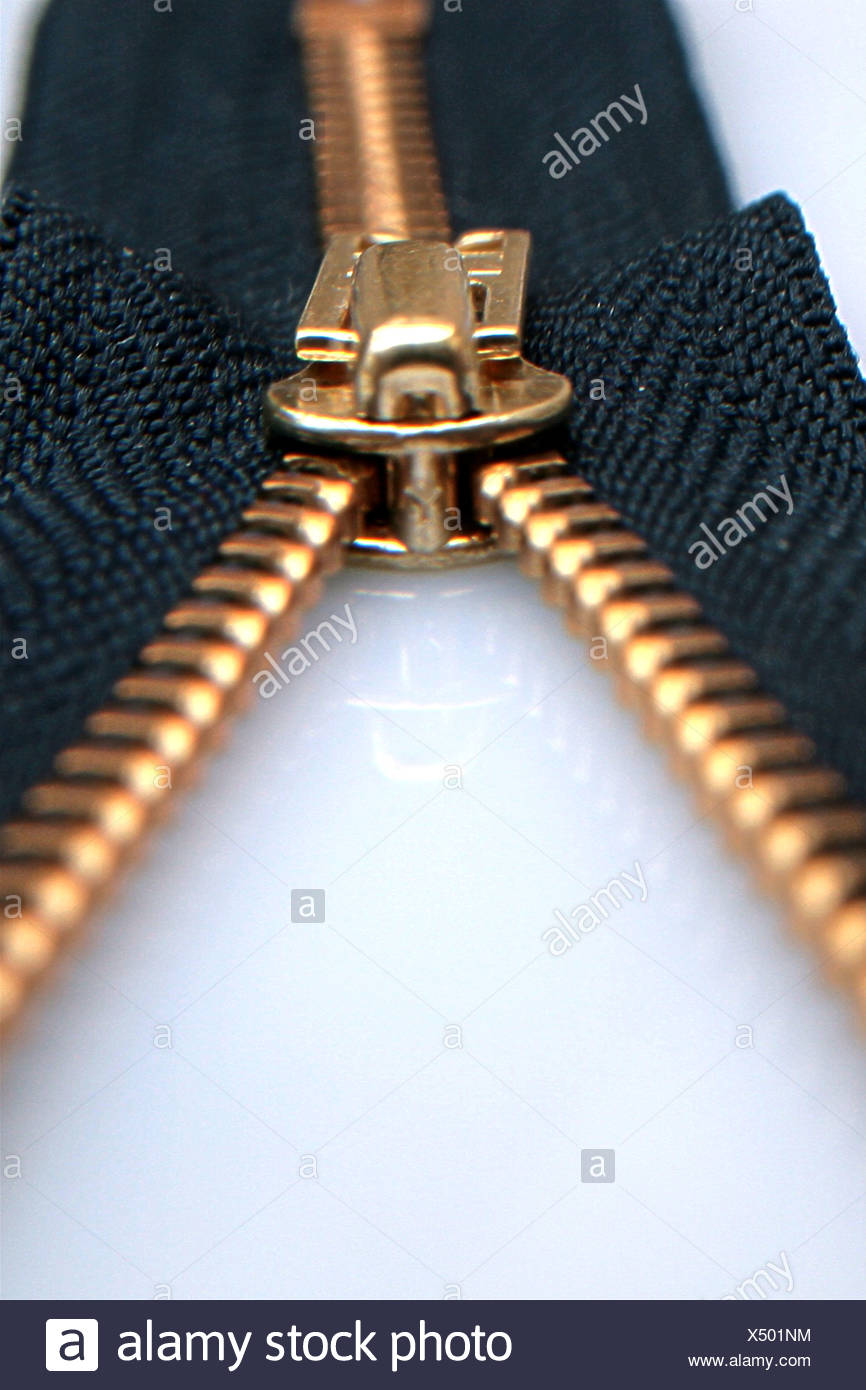 Detail of a zipper - Stock Image
