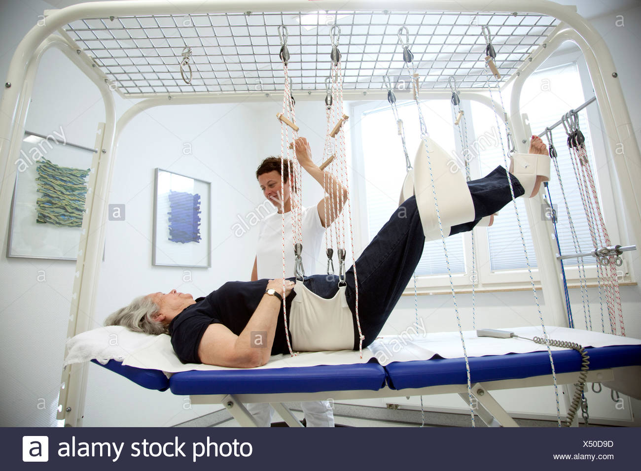 Essen, Germany, on the therapy loop table - Stock Image