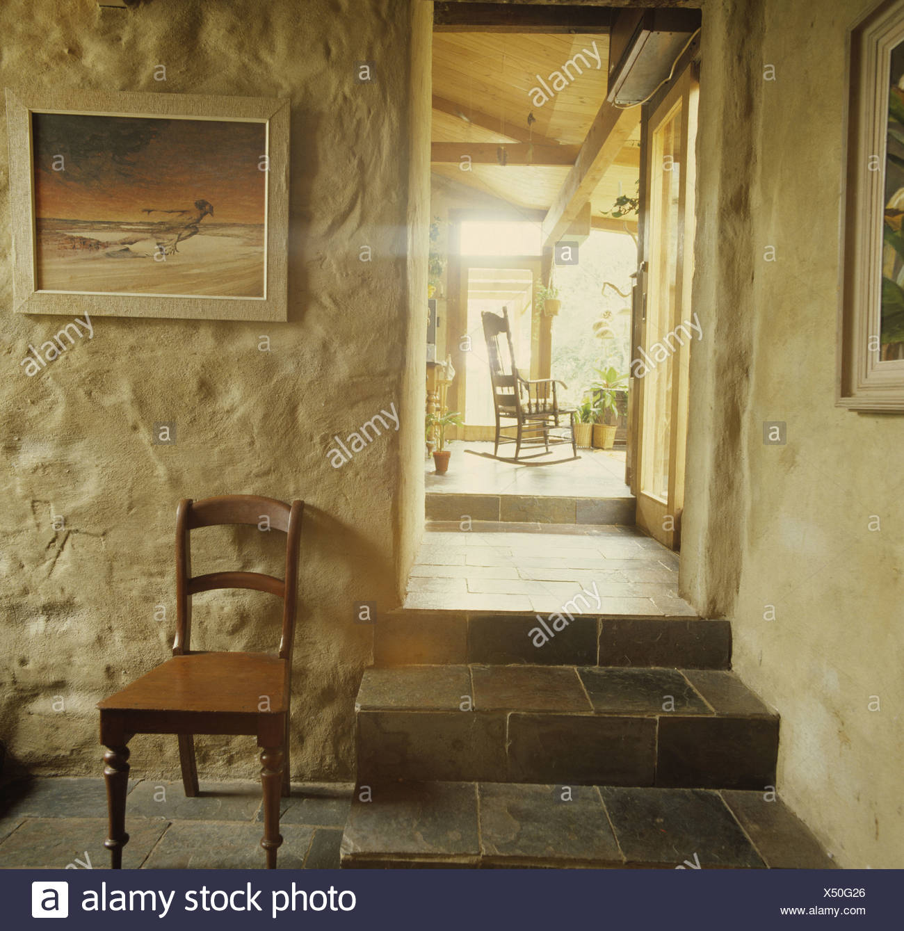 Country Cottage Interior - Stock Image