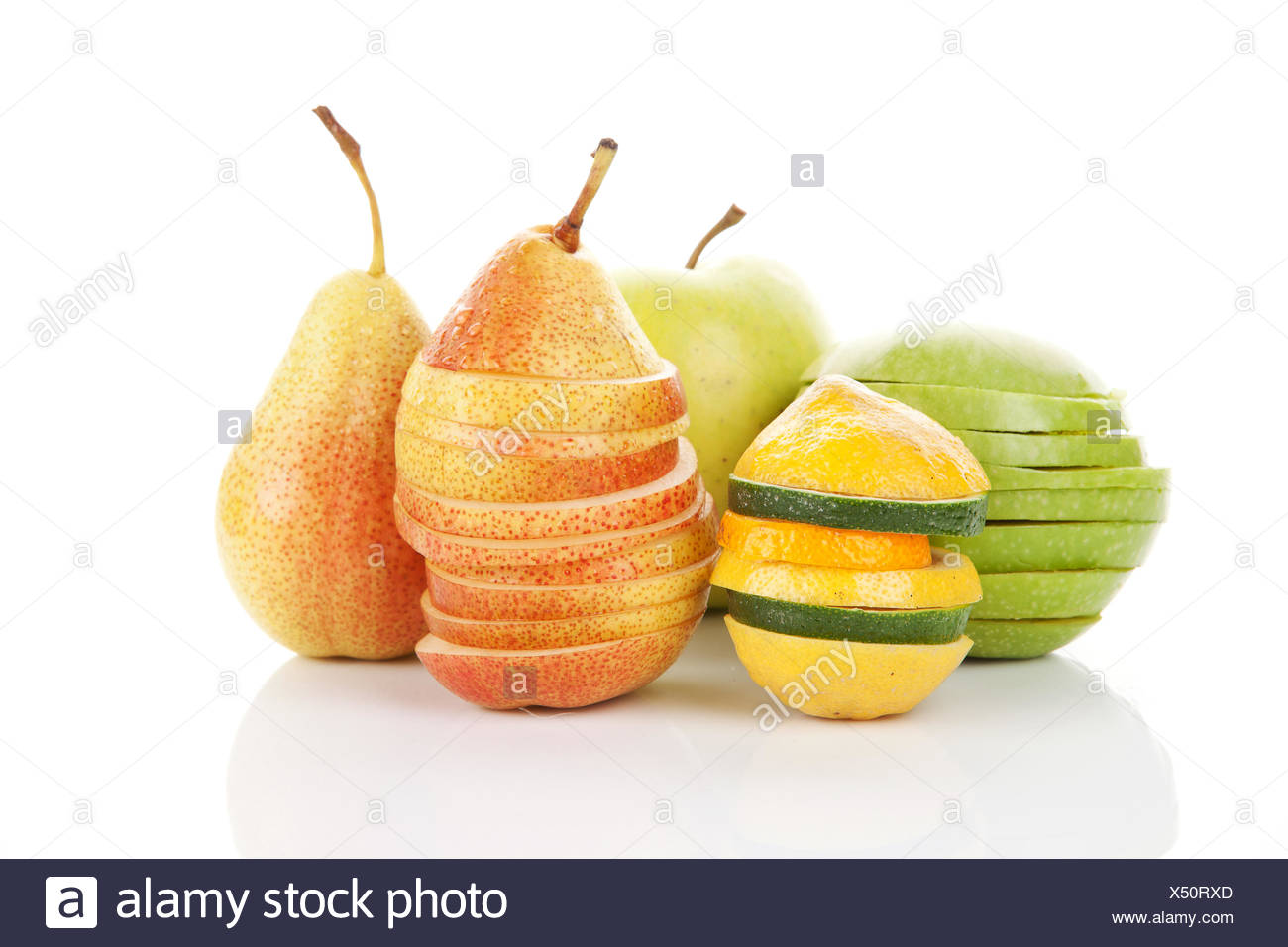 Fresh fruits isolated. Stock Photo