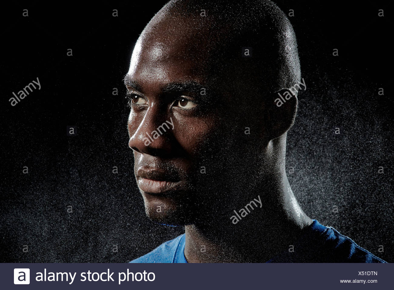 Close up portrait of basketball player Stock Photo