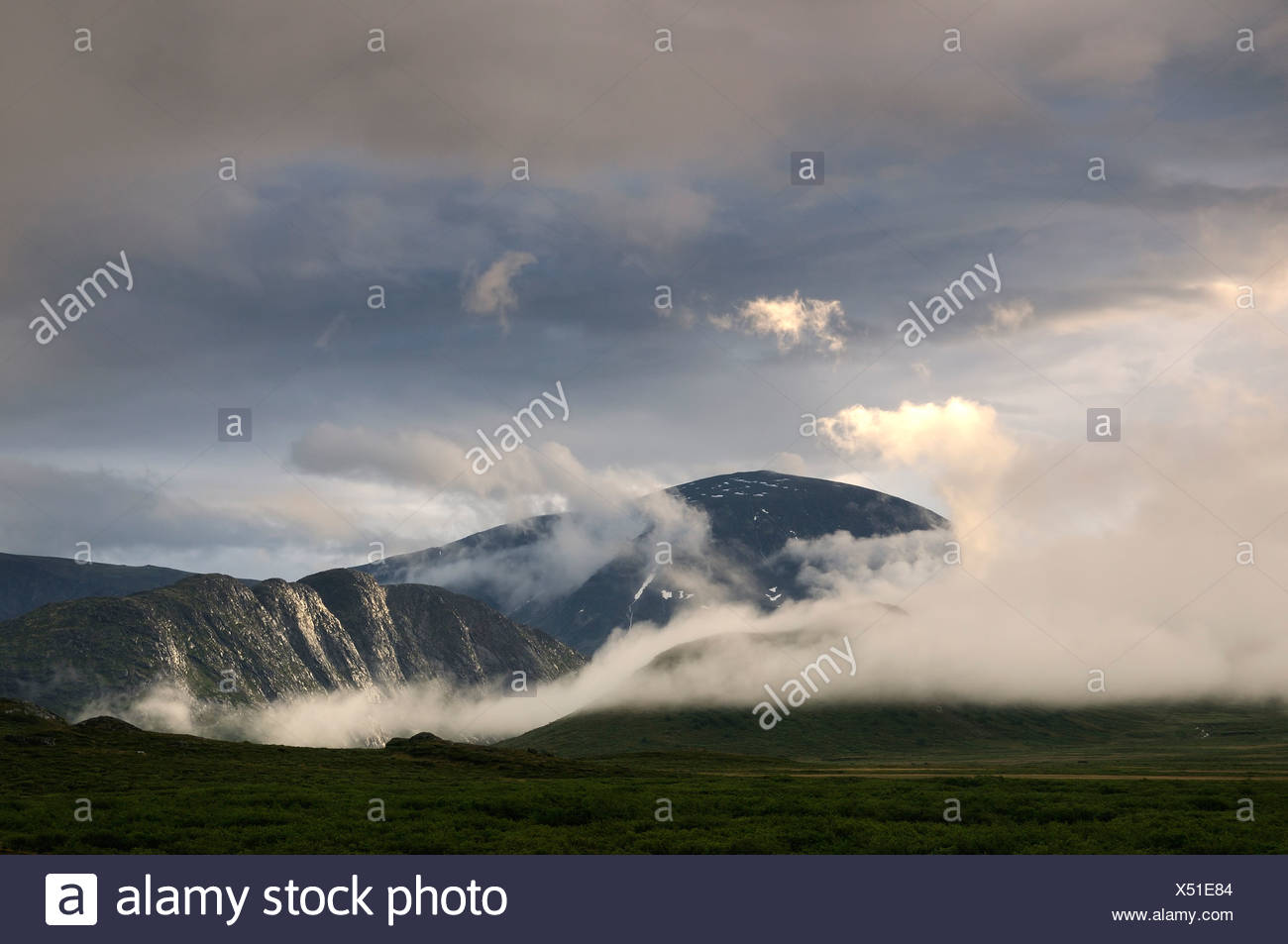 Mountain landscape in Jotunheimen National Park, Norway, Europe - Stock Image